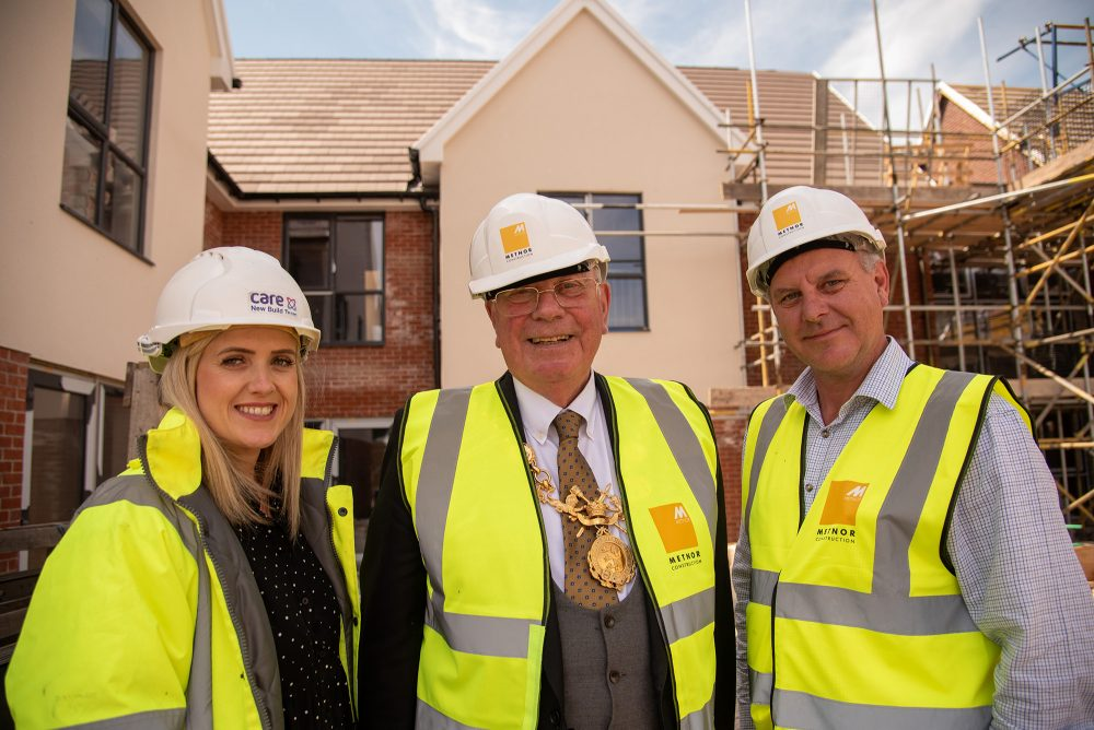 Topping out ceremony at Chester care home