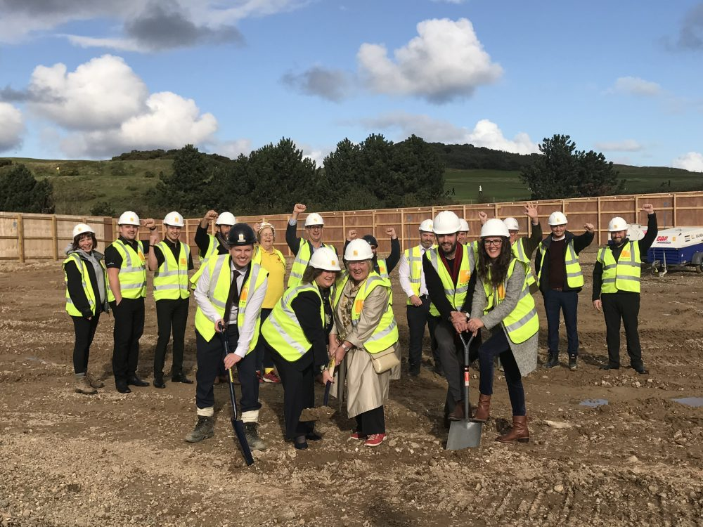 Groundbreaking at Sheringham Leisure Centre